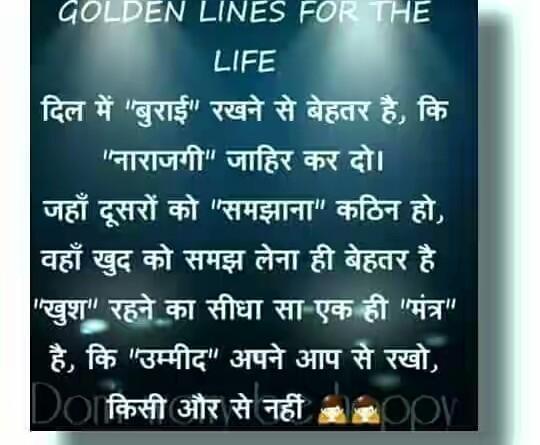 Golden Lines For The Life Hindi Status Hindi Whatsapp Status